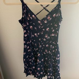 American Eagle Outfitters navy floral print dress